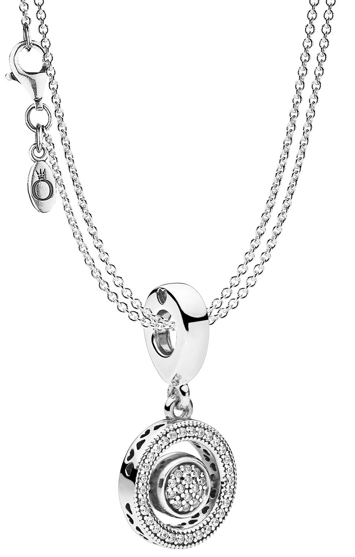 Pandora 08591 Halskette mit Charm-Anhänger Logo