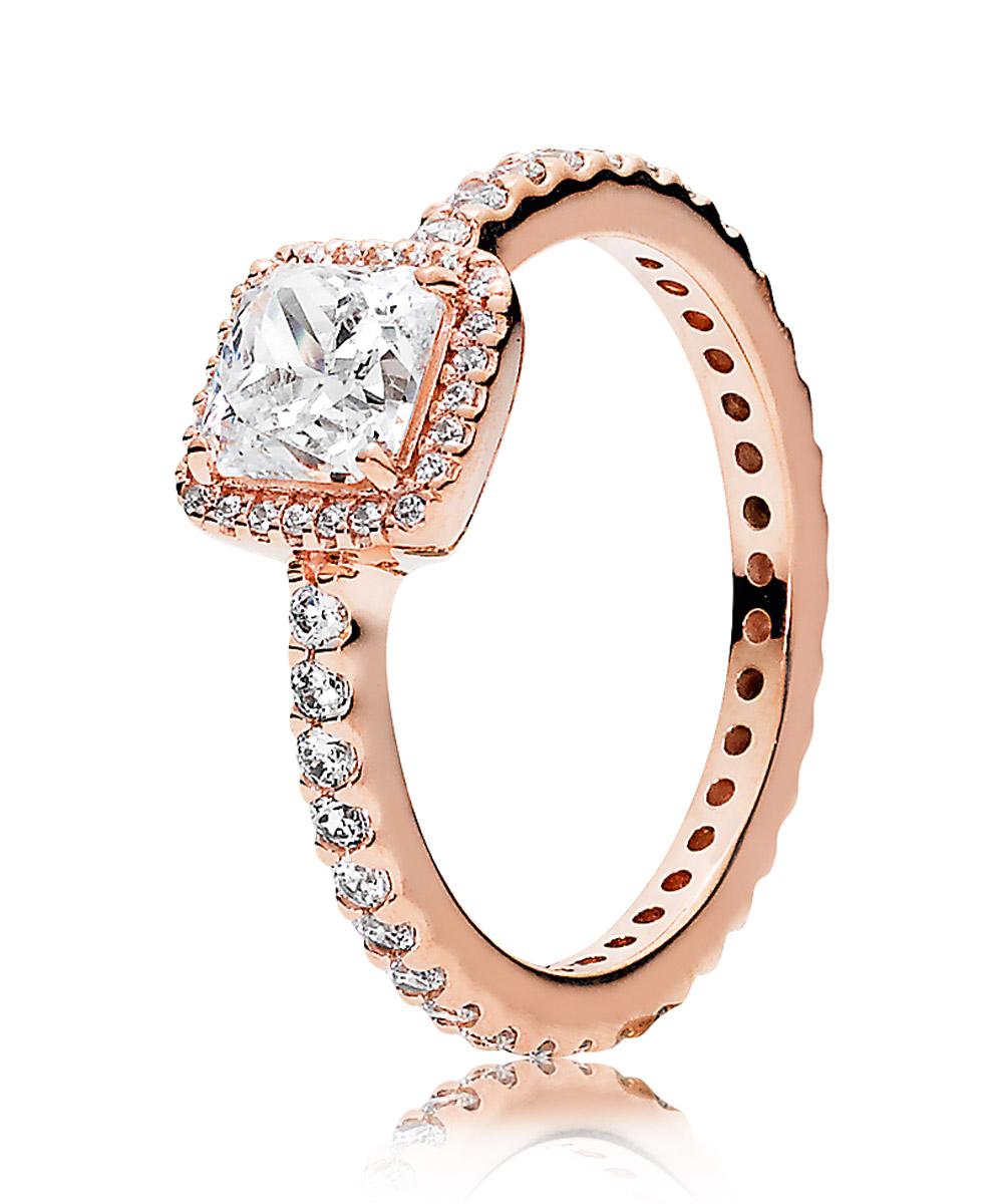 Pandora 180947CZ Damen Ring Zeitlose Eleganz Rosé
