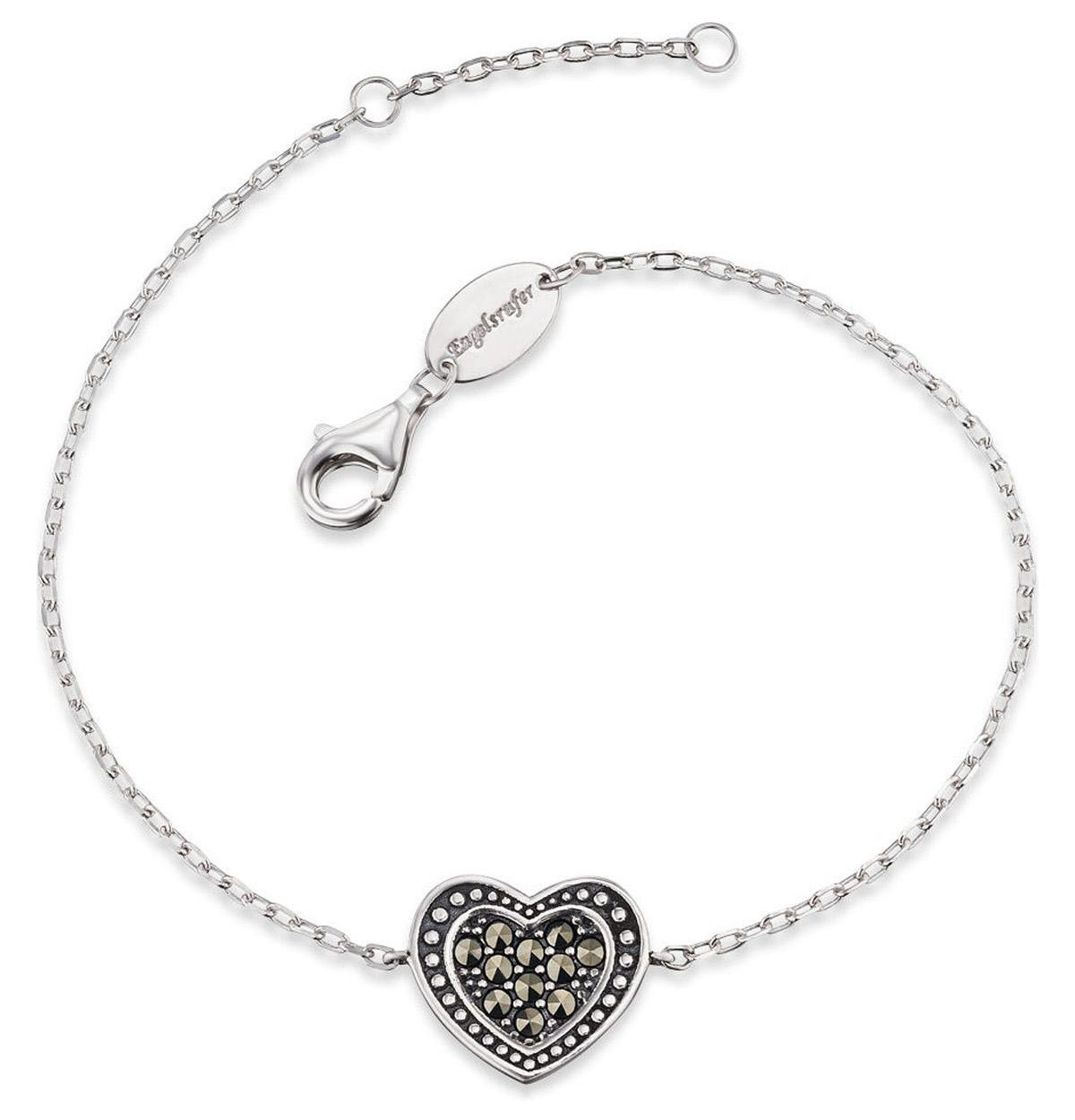 bei Uhrcenter: Engelsrufer ERB-HEART-MA Damen-Armband Herz Markasit - Schmuck