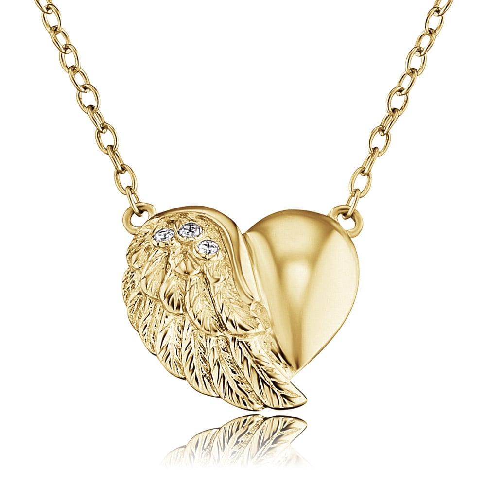Engelsrufer ERN-LILHEARTWING-G Damen-Halskette Herzflügel Goldfarben