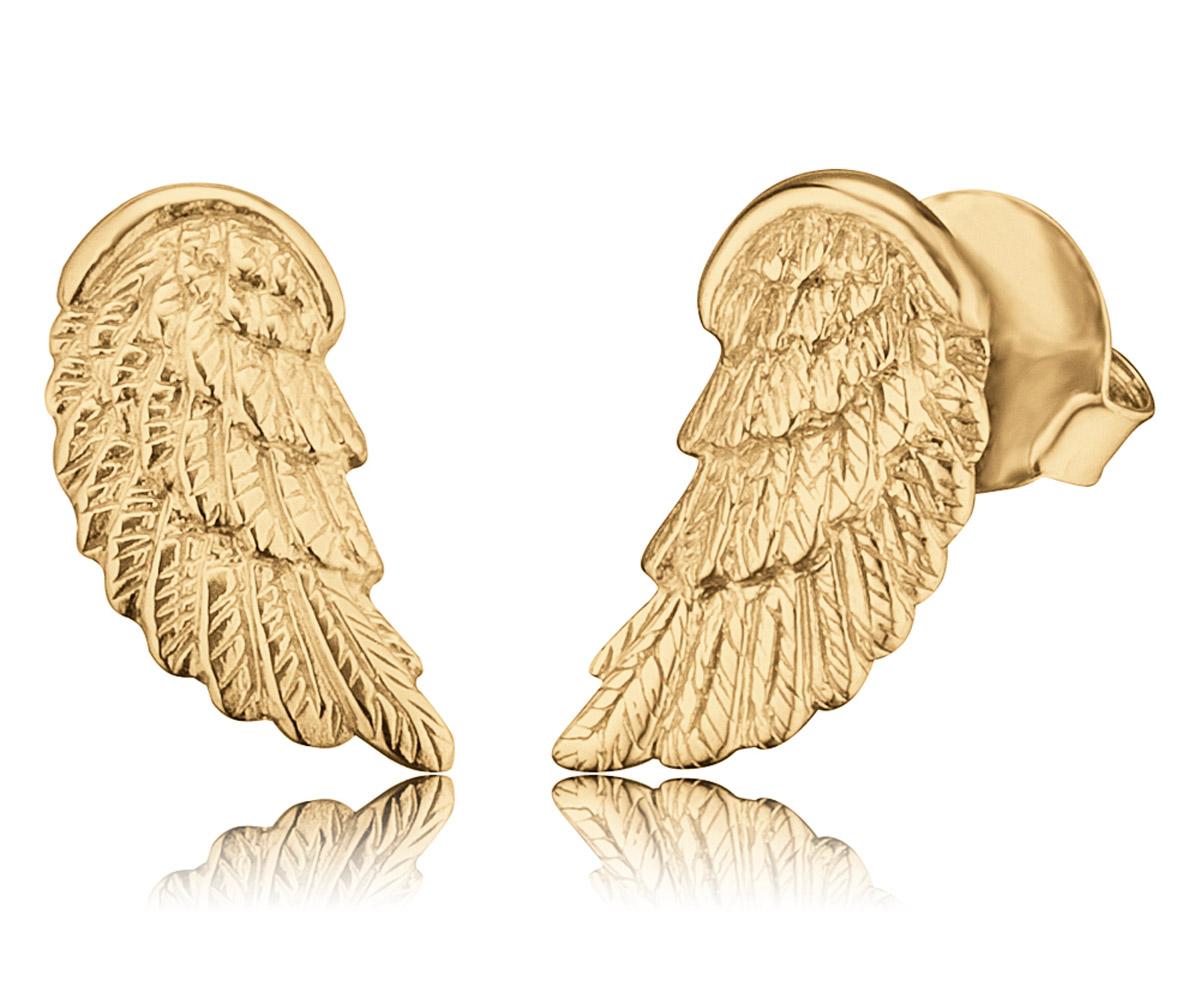 bei Uhrcenter: Herzengel HEE-WING-G9K Kinder-Ohrstecker Flügel Gold - Schmuck