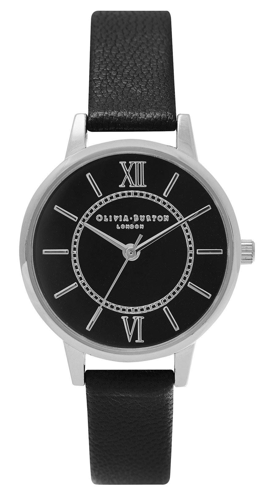 bei Uhrcenter: Olivia Burton OB15WD49 Wonderland Black & Silver Damenuhr - Damenuhr