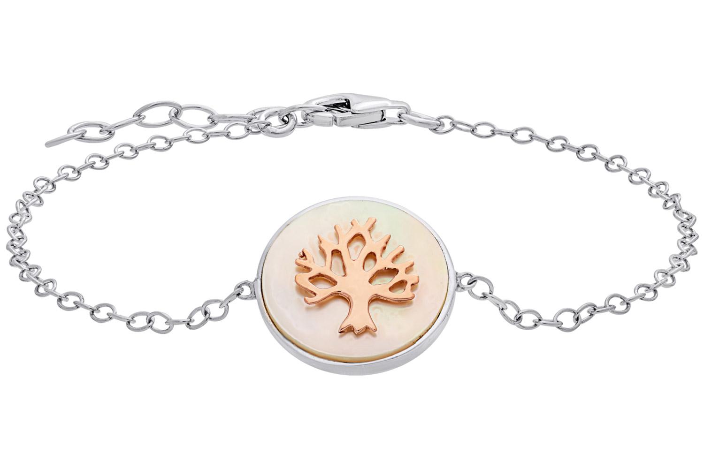 bei Uhrcenter: Julie Julsen JJBR0620.8 Damen-Armband Lebensbaum Silber - Schmuck
