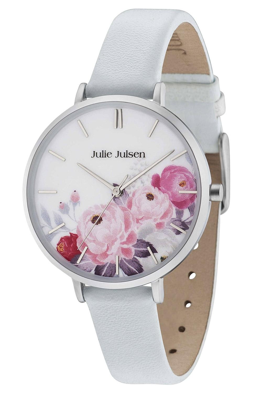 Julie Julsen JJW11SL-4 Damenuhr Flower Silver Light Blue