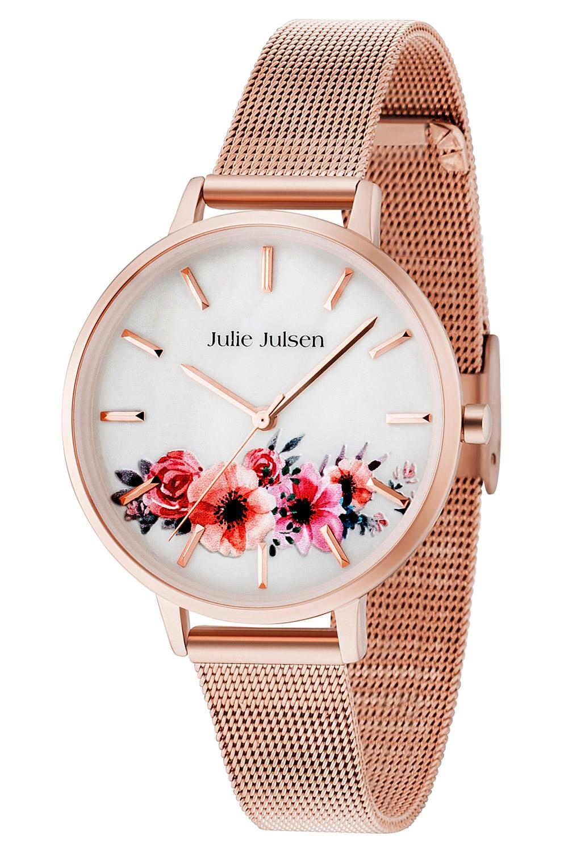 bei Uhrcenter: Julie Julsen JJW20RGME Damenuhr Flower Rosé Mesh 2.0 - Damenuhr