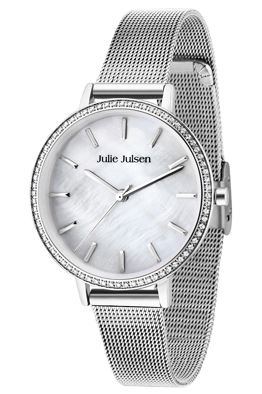 bei Uhrcenter: Julie Julsen JJW41SME Damenuhr Sparkle Silver Mesh - Damenuhr