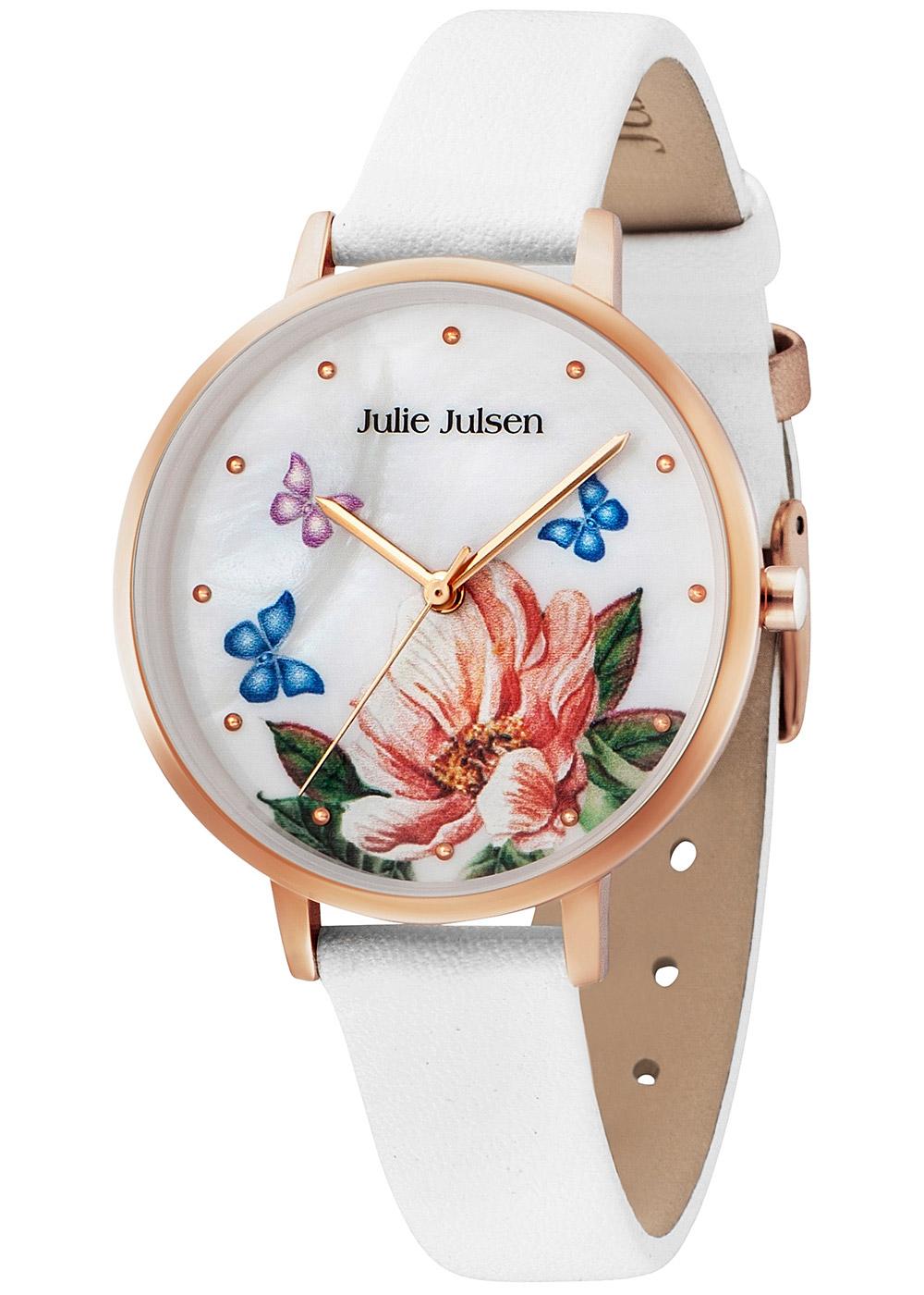bei Uhrcenter: Julie Julsen JJW90RGL-9 Damenuhr Blume und Schmetterlinge - Damenuhr