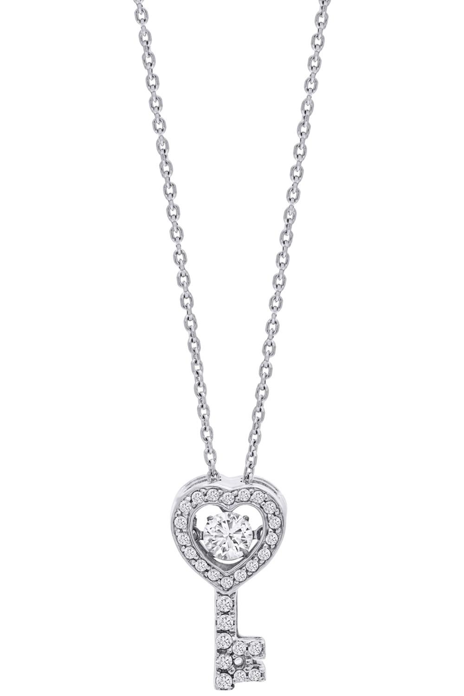 bei Uhrcenter: Julie Julsen JJDNE0528.1 Damen-Halskette Dancing Stone Schlüssel Silber - Schmuck