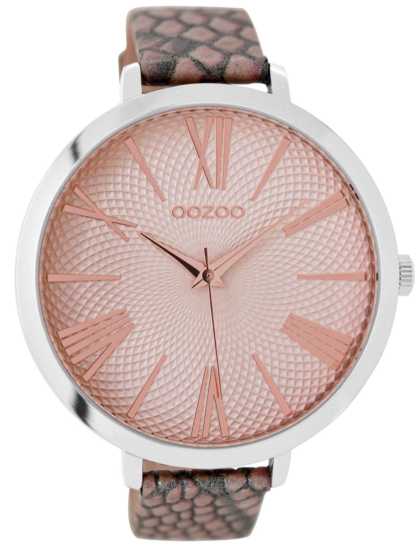 Oozoo C9172 Damenarmbanduhr Pinkgrau 48 mm