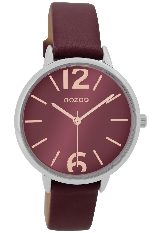 Oozoo C9226 Damen-Armbanduhr Bordeaux 36 mm