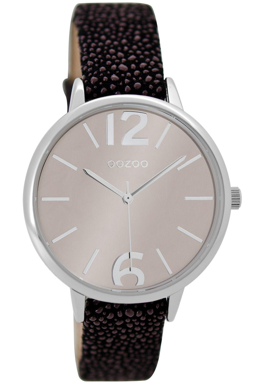 bei Uhrcenter: Oozoo C9227 Damenuhr Silber/Schwarz 36 mm - Damenuhr