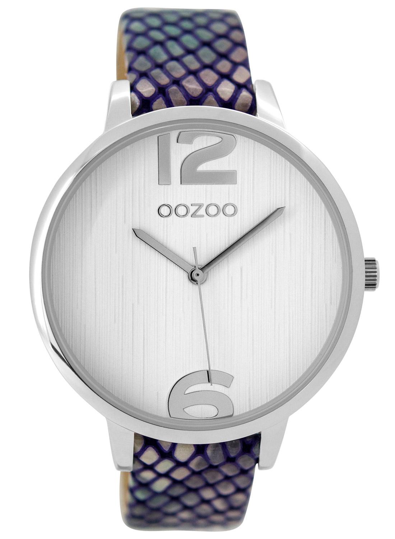 Oozoo C9532 Damenuhr Rainbow Snake/Weiß 42 mm