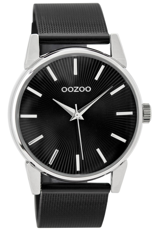 Oozoo C9551 Damen-Armbanduhr mit Milanaiseband Schwarz 38 mm