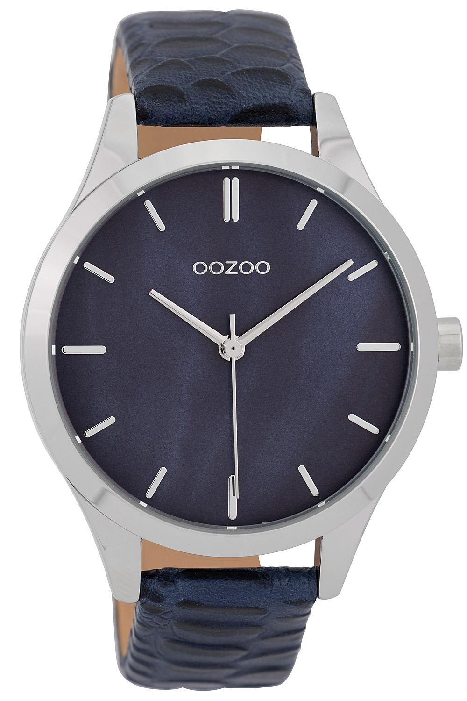 Oozoo C9721 Damenuhr mit Lederband Blau 42 mm