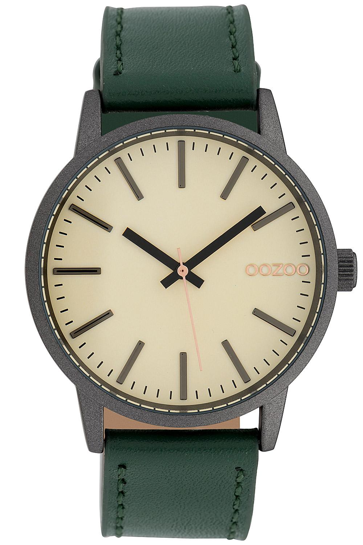Oozoo C10018 Damenuhr Creme/Grün 40 mm