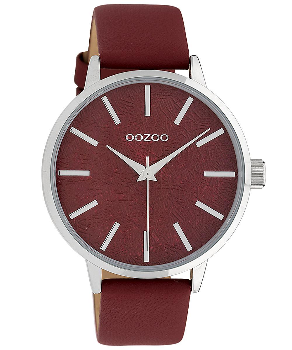 Oozoo C9752 Damenarmbanduhr Dunkelrot 42 mm