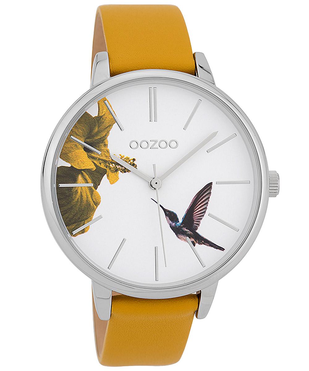 bei Uhrcenter: Oozoo C9761 Damenuhr Kolibri Senfgelb/Weiß 42 mm - Damenuhr