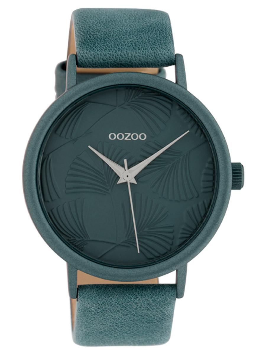 bei Uhrcenter: Oozoo C10397 Damenuhr mit Lederband 42 mm Blau - Damenuhr