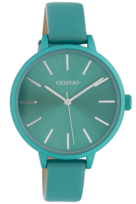 bei Uhrcenter: Oozoo C10259 Damenuhr mit Lederband Türkis Ø 36 mm - Damenuhr