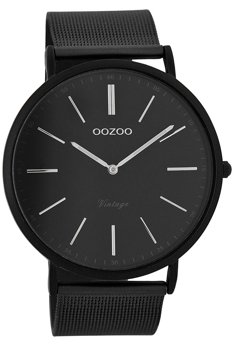 Oozoo C7383 Vintage Herren-Armbanduhr Schwarz 44 mm