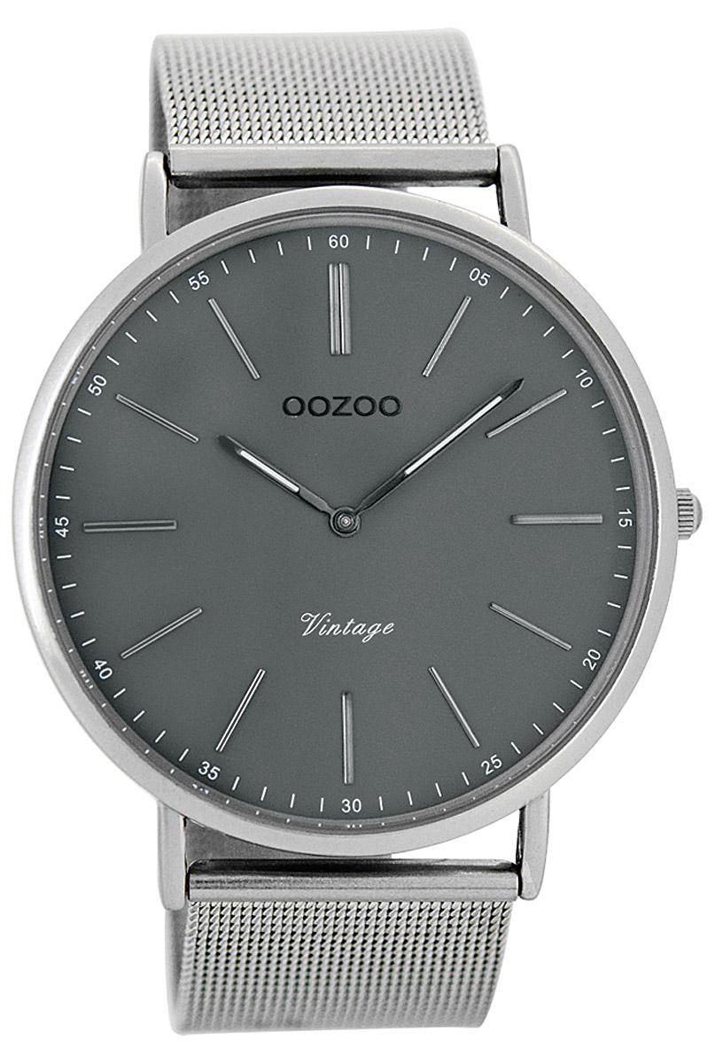 Oozoo C7382 Vintage Herrenuhr Grau/Silber 44 mm