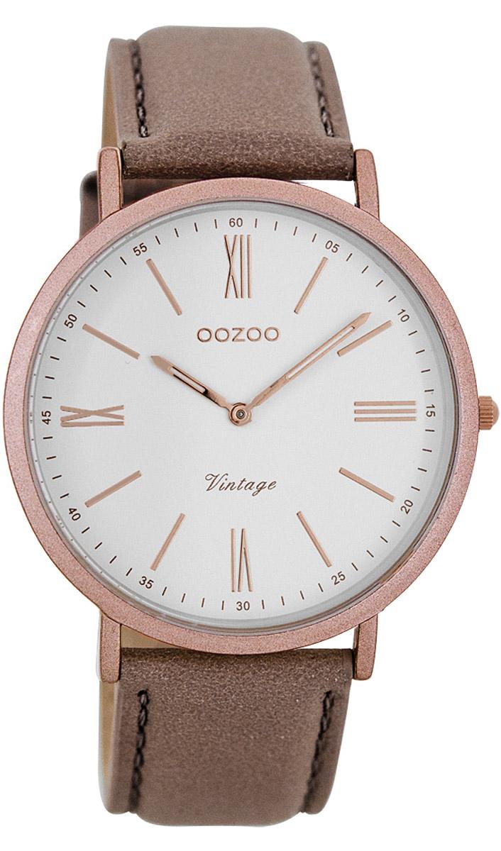 Oozoo C7709 Vintage Damenuhr Pinkgrau 40 mm