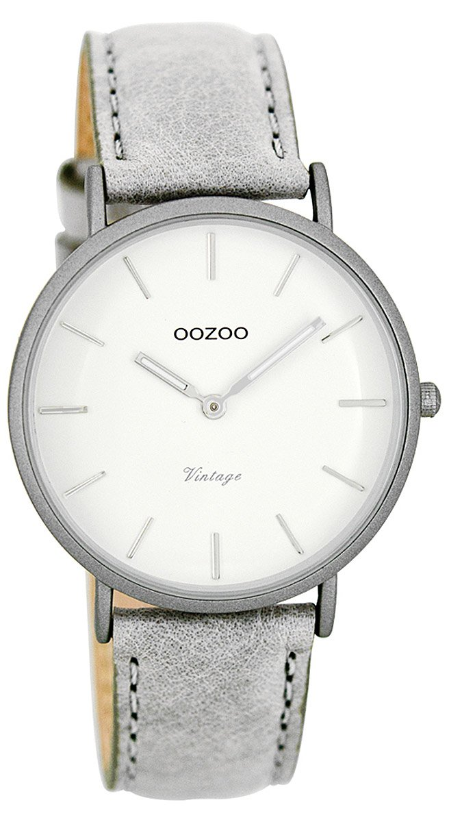 Oozoo C7745 Vintage Lightgrey Damenuhr 36 mm