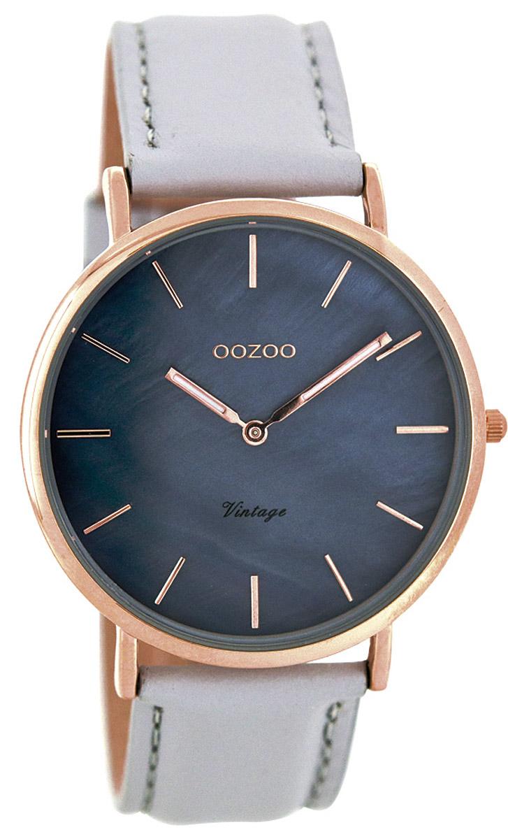 Oozoo C7766 Vintage Damenuhr Taublau/Hellgrau 40 mm