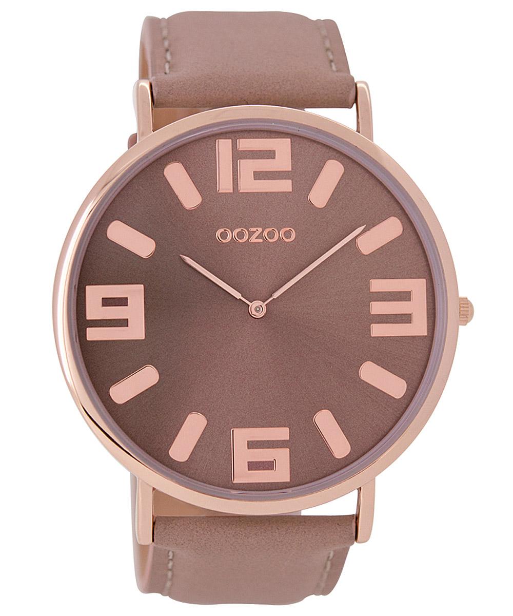 Oozoo C8851 Armbanduhr mit Lederband Vintage Pi...
