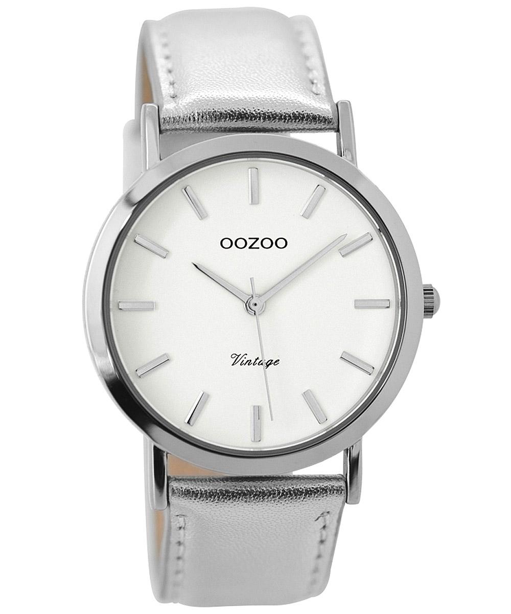 Oozoo C7782 Damenuhr Vintage Silberfarben 38 mm