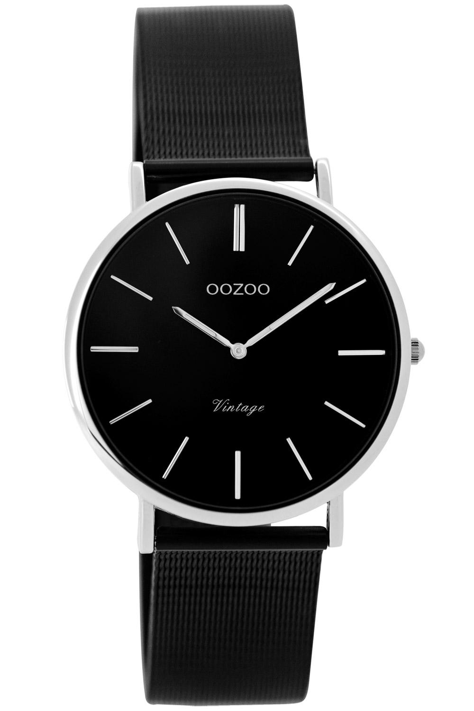 Oozoo C8867 Damenuhr Vintage Schwarz 32 mm