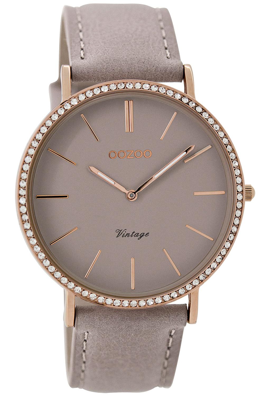 Oozoo C8888 Damen-Armbanduhr Vintage Taupe 40 mm