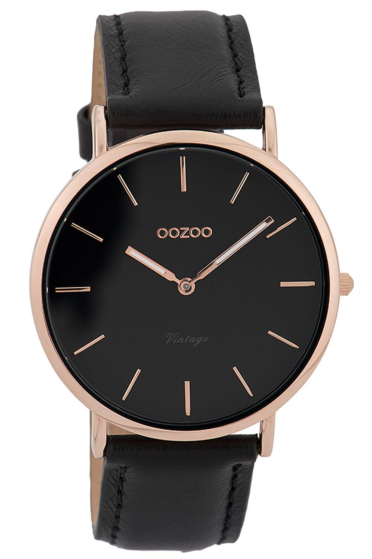 Oozoo C9318 Damenuhr Vintage Rosé/Schwarz 40 mm