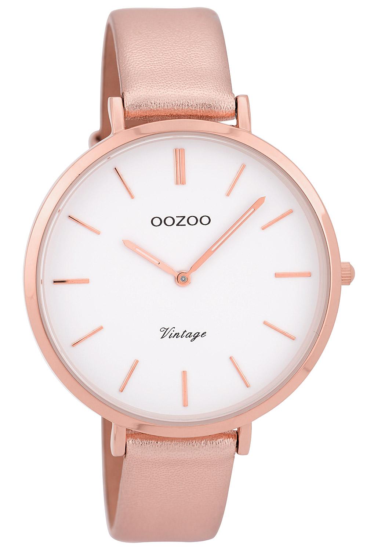 bei Uhrcenter: Oozoo C9381 Damenuhr Vintage Rosé/Weiß 40 mm - Damenuhr