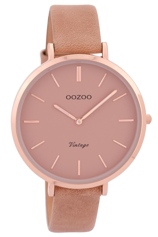 Oozoo C9382 Damenuhr Vintage Rosé/Pinkgrau 40 mm