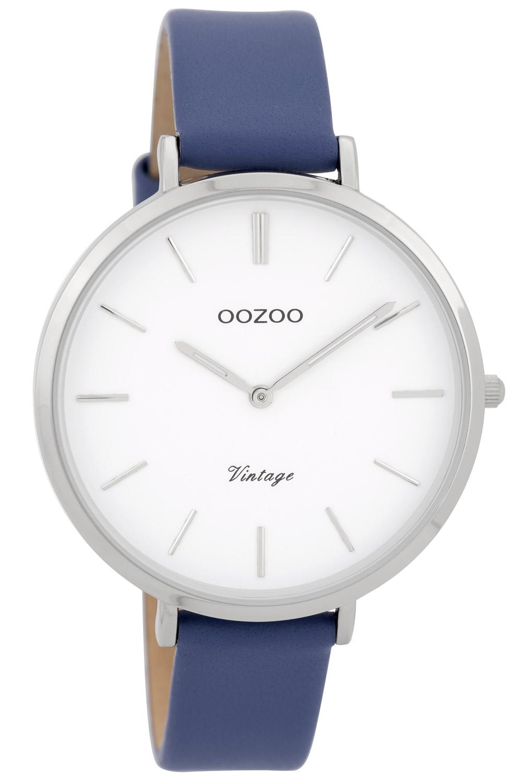 Oozoo C9389 Damenuhr Vintage Blau 40 mm