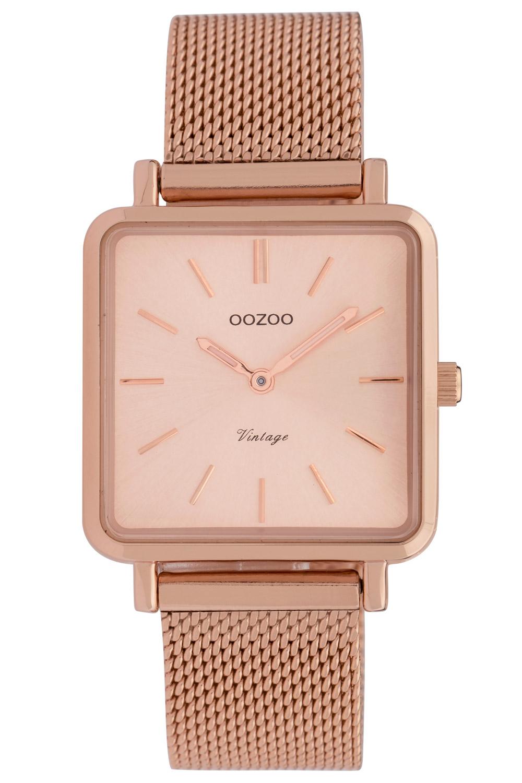 Oozoo C9847 Damenuhr Vintage Rosé/Milanaiseband 28 mm
