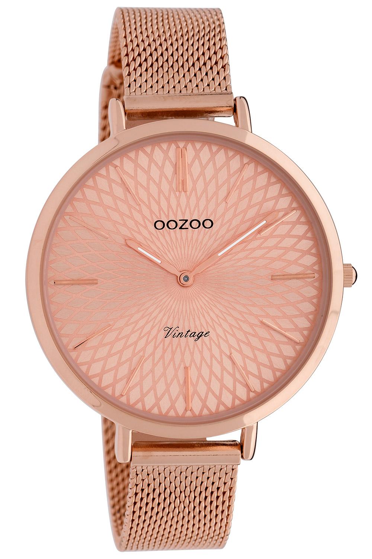 Oozoo C9864 Damenuhr Vintage Rosé/Milanaiseband 40 mm
