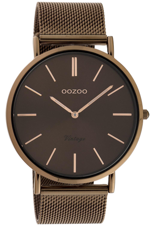 bei Uhrcenter: Oozoo C20016 Damenuhr Ultra Slim Braun 44 mm - Damenuhr