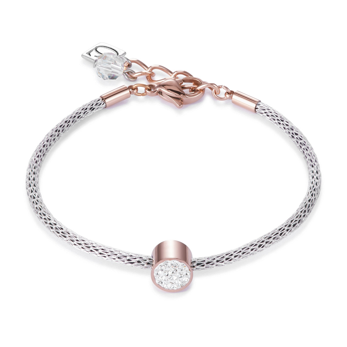 bei Uhrcenter: Coeur de Lion 0218/30-1800 Damenarmband Weiß/Stahl/Rosé - Schmuck