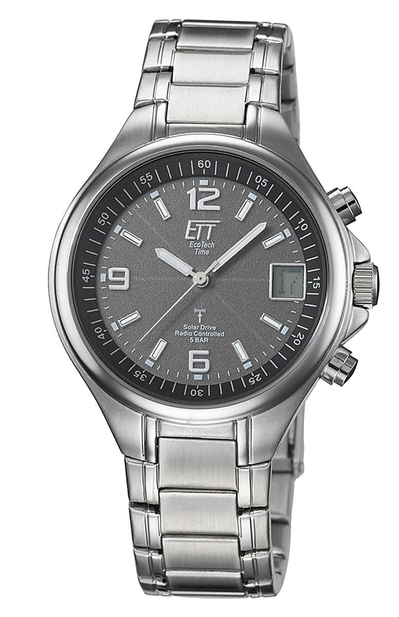 ETT Eco Tech Time EGS-11035-31M Solar Drive Funk Herren-Armbanduhr