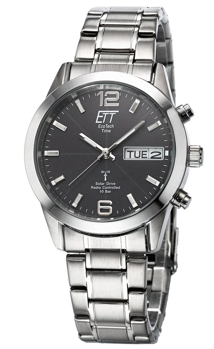 ETT Eco Tech Time EGS-11247-22M Solar Drive Funk Herren-Armbanduhr Gobi