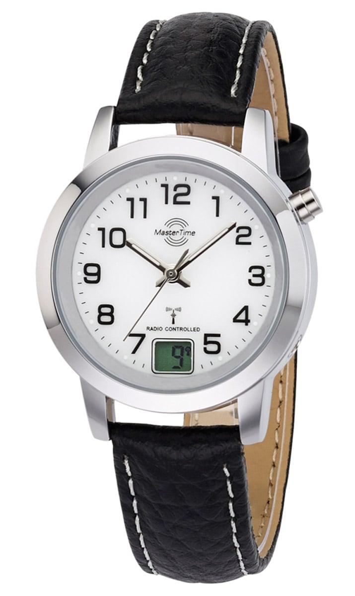 Master Time MTLA-10295-12L Damen-Funkuhr Basic Classic