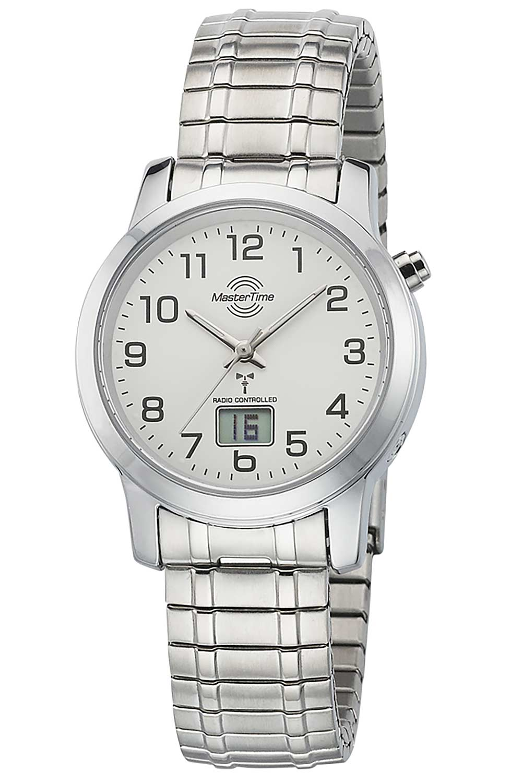 Master Time MTLA-10307-12M Damen-Funkuhr mit Zugband