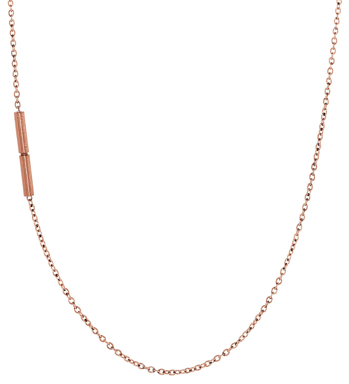 bei Uhrcenter: Ernstes Design AK18 Halskette Edelstahl Rotgold beschichtet - Schmuck