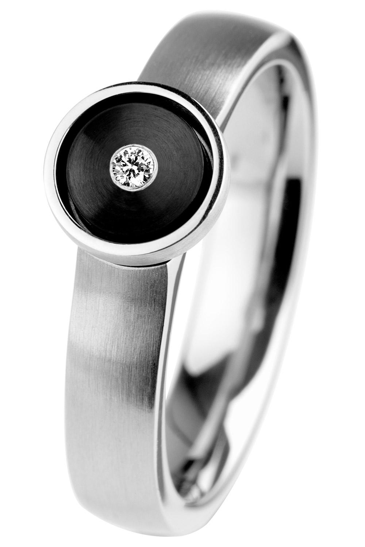 bei Uhrcenter: Ernstes Design R522 Diamant Damen-Ring - Schmuck