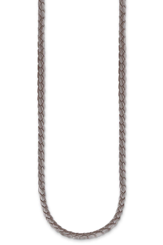 Thomas Sabo X0244-134-5 Leder-Halskette für Charms Grau