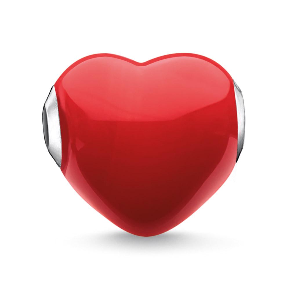 bei Uhrcenter: Thomas Sabo K0275-017-10 Bead Glas-Herz Rot - Schmuck