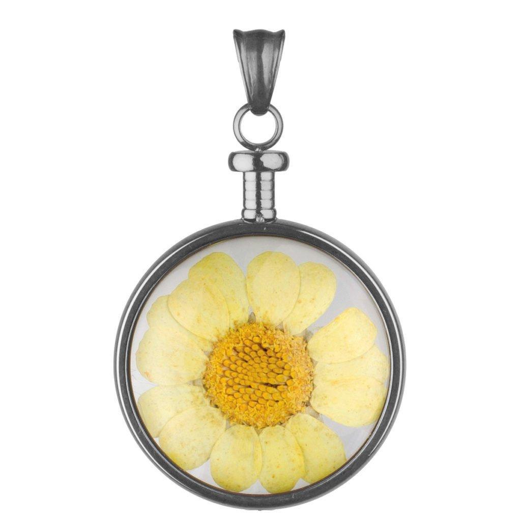 bei Uhrcenter: Blumenkind BL01MGRGE Ketten-Anhänger Blüte Grau/Gelb - Schmuck