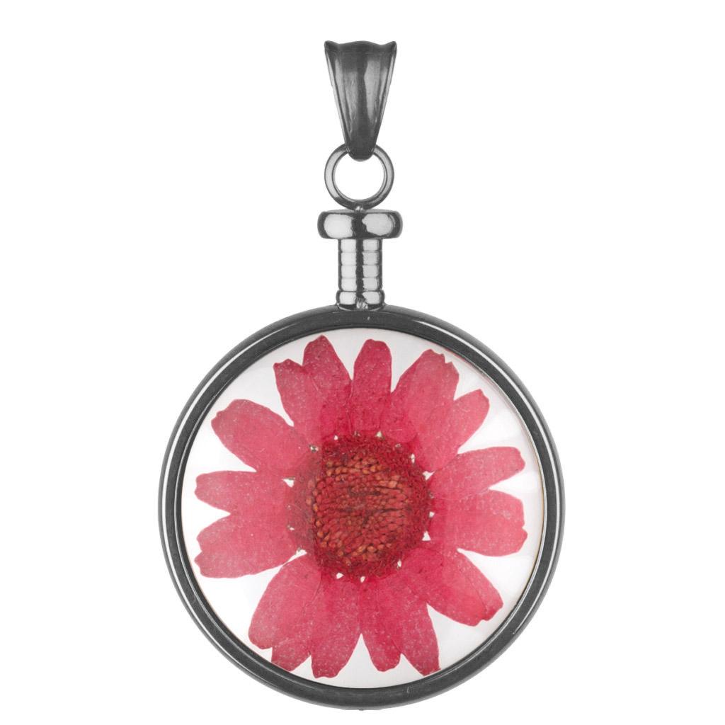 bei Uhrcenter: Blumenkind BL01MGRRE Kettenanhänger Blume Grau/Rot - Schmuck